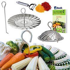 Instant Pot Veggie Steamer Basket - LARGE - Fits 5/6/8 Quart Pressure Cooker - 100% Stainless...