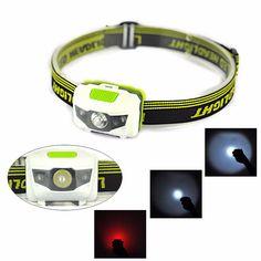 Super Bright 300LM R3+2LED Mini Headlight Headlamp Flashlight Torch Lamp Lights 2017 Bicycle accessories #Affiliate