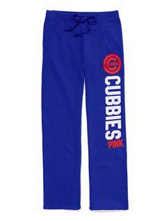 Victoria's Secret PINK Chicago Cubs boyfriend pants $49.50