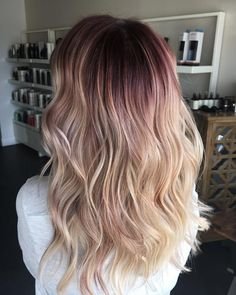 Rooty blonde perfection by Capelli Salon stylist Tori. Aveda hair color formula … - New Hair Blonde Hair With Roots, Red To Blonde, Blonde Color, Blonde Ombre, Balayage Hair Ombre, Balyage Hair, Hair Streaks, Aveda Hair Color, Hair Color Formulas