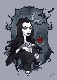 Find images and videos about addams family and Morticia Addams on We Heart It - the app to get lost in what you love. Horror Art, Witch Art, Addams Family, Goth Art, Fantasy Art, Art, Dark Art, Gothic Art, Portrait Art