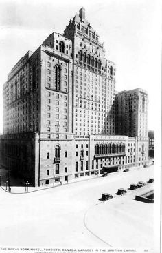 The Royal York opening up in 1929. Found on Vintage Toronto.