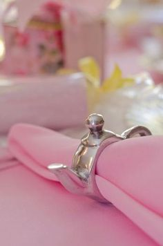 Teapot Napkin Rings...  These would have been so adorable at my daughter's 6th birthday tea party!