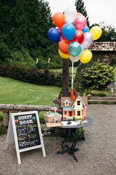 Emily wore a Needle & Thread dress for her colourful, balloon and glitter filled wedding at Coombe Trenchard. Images by Freckle Photography. - Emily wore a Needle & Thread dress for her colourful, balloon and glitter filled. Wedding Themes, Wedding Blog, Dream Wedding, Wedding Decorations, Wedding Ideas, Disney Wedding Centerpieces, Trendy Wedding, 1920s Wedding, Wedding Venues