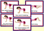 Gross Motor Activities for Children - Flashcards - Girl Preschool Movement Activities, Gross Motor Activities, Classroom Activities, Activities For Kids, Holiday Activities, Pediatric Physical Therapy, Physical Education, Physical Development, School Resources
