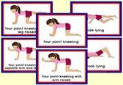 Gross Motor Activities for Children - Flashcards - Girl