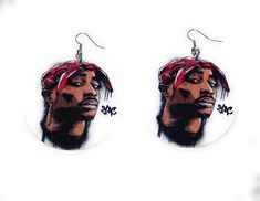 Wooden Tupac Earrings on Mercari Wooden Earrings, Fashion Earrings, Christmas Ornaments, Holiday Decor, Amazon, Products, Wood Earrings, Amazons, Riding Habit