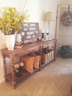 LOVE my Everette Foyer Table!