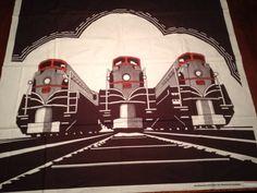 Frances Butler for Strömma Sweden Train Large Wall Hanging Vintage 1970s Textile