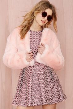 Nasty Gal Angel Baby Faux Fur Jacket | Nasty Gal #streetstyle