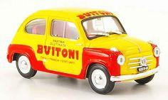 Fiat 600 Pasta Buitoni 1955 Brumm diecast model car 1/43 - Buy/Sell Diecast car on Alldiecast.us