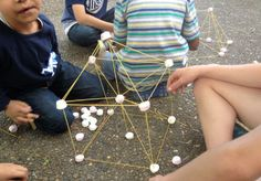 marshmallow and spaghetti tower