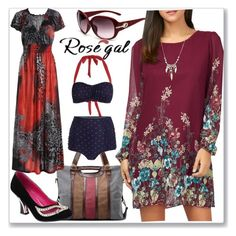 """""""Floral Long Sleeve Chiffon Short Casual Dress"""" by ane-twist ❤ liked on Polyvore featuring polyvore_editorial"""