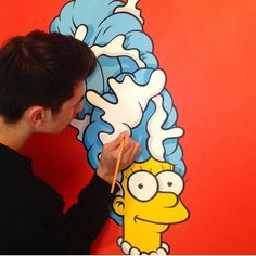 """""""Pretty awesome!  Check out the artist: @aaronkkai  #marge #artbotic #art #artist #thesimpsons #"""" Photo taken by @artbotic on Instagram, pinned via the InstaPin iOS App! http://www.instapinapp.com (06/02/2015)"""