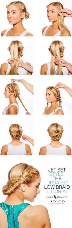 Jet Set Style: The Updated Low Braid with Joico