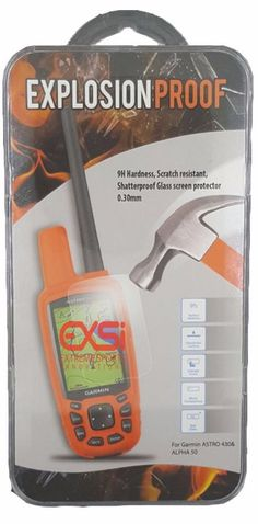 Garmin Astro 430 Alpha 50 Handheld Explosion Proof Screen Protector Temper Glass #Garmin 16.99$