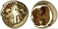 EL Twenty-Fourth Stater. Greek Coin, Ionia, Miletus. Circa 600-550 BC. 0,53g. Klein 416. VF. Price realized 2011. 360 USD.