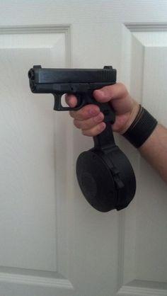 50 Round Glock drum mag! G26 9mm - http://www.RGrips.com