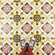 Floors...     #floor #tiles #converse #colours #ihaveathingwithfloors #instagram #morracan #ihaveathingwithfloors