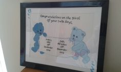 Birth of twin boys pic
