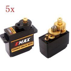 Servo analógico de 5PCS EMAX ES08MA II 12g mini engranaje del metal para el modelo de RC Venta - Banggood.com