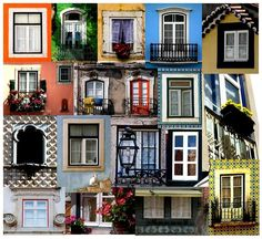 Windows in Lisbon.  I'm pretty sure I used to walk by the lower right one nearly every day when I lived in Lisbon.