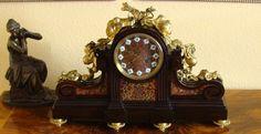Louis XVI Pendule Charpentier Paris Boulle Uhr Historismus 1860 Intarsie Bronze in Antiquitäten & Kunst, Metallobjekte, Bronze | eBay