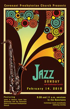 Jazz Sunday Poster Concept by doublejdesign, via Flickr