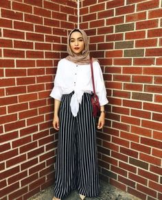Palazzo pants with hijab-Hijabers fashion looks – Just Trendy Girls