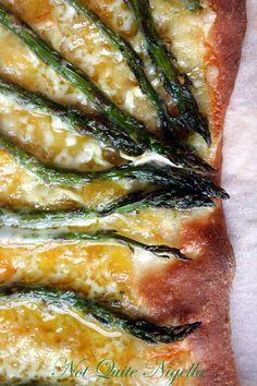 Asparagus and Triple Cream Brie Pizza