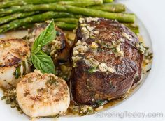 Scampit-Style Steak & Scallops is a fabulous date night dinner for two. Easy to prepare and worthy of celebrations.