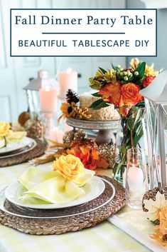 Transition from Summer to Fall with a warm and inviting tablescape idea from Everyday Party Magazine #Fall #FallEntertaining #Friendsgiving #Dinner #Tablescape