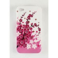 Carcasa iPhone 4 y 4S Estampado Flores y Abejas