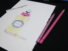 2014_09_24_penhaligon_02_s    penhaligon          for this drawing I used :Faber castell polychromos Stonehenge paper  © Belta(Mayumi Wakabayashi)