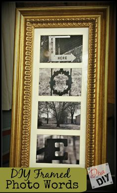 DIY Photo Words In A Frame | The Diva of DIY