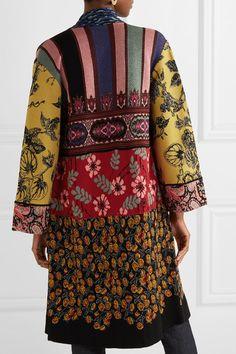 Multicolored jacquard-knit Slips on viscose, wool, polyester, polyamide, metallic fibers Dry clean Made in Italy Ethnic Fashion, Boho Fashion, Womens Fashion, Fashion Trends, The Row, Pochette Album, Bohemian Mode, Vogue Fashion, Kimono
