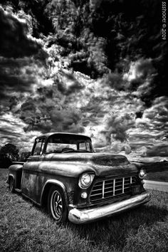 Weather Wagon by Steve Shelley Black And White Photo Wall, Black And White Landscape, Black And White Pictures, Black And White Photography, Retro Cars, Vintage Cars, Classic Trucks, Classic Cars, Carros Retro