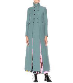 Blue virgin wool coat