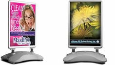 The springster with spring board base is used for  indoor or outdoor advertising.