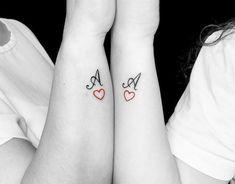 Cute Thigh Tattoos, Aa Tattoos, Cute Finger Tattoos, Mini Tattoos, Couple Tattoos, Body Art Tattoos, Tatoos, Tattoo Alphabet, Alphabet Tattoo Designs