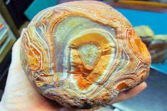 Front of a colorful Lake Superior agate.