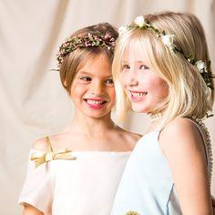 Corona de flores para el pelo Blanca