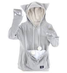 Image result for cat pouch hoodie