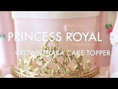 Fondant Crown, Gold Crown Cake Topper, Cake Topper Tutorial, Fondant Tutorial, Princess Crown Cake, Princess Tiara, Tiara Cake, Prince Cake, Funny Birthday Cakes