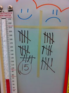This elementary teacher is AMAZING!  Love this simple scoreboard idea.  Look at her youtube videos for tons of ideas too!