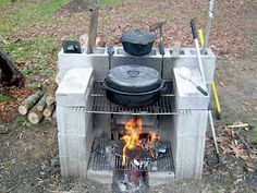 diy outdoor projects A portable outdoor fireplace can keep your party moving! This is a great Do It Yourself project for outdoor cooking without a conventional grill. Diy Outdoor Fireplace, Outdoor Stove, Diy Fireplace, Outdoor Fun, Portable Fireplace, Backyard Fireplace, Open Fireplace, Fireplace Mortar, Fireplace Seating