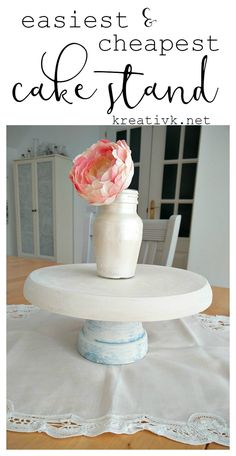 the easiest & cheapest DIY cake stand ever kreativk.net