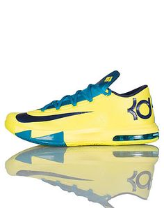 021dc5e54a3f NIKE Kevin Durant Low top mens sneaker Zig zag design lace closure  Cushioned tongue with logo NIKE signature swoosh on side of shoe Yellow and  Navy color