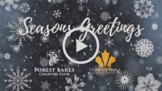 Seasons Greetings from Forest Lakes Country Club 2018 Lakes, Happy Holidays, Seasons, Country, Happy Holi, Rural Area, Seasons Of The Year, Country Music, Ponds