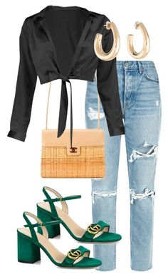 """Untitled #214"" by angheets-closet on Polyvore featuring GRLFRND, Chanel, Boohoo and Gucci"
